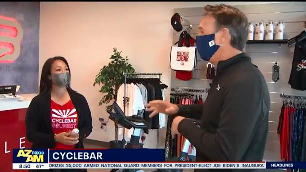 <span>Thank youFOX 10for supporting and featuring our local studio and franchisees in Gilbert, AZ! CycleBar Gilbert has reopened responsibly with stringent cleaning procedures & additional safety precautions.</span>